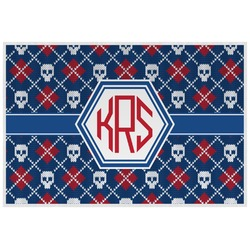 Knitted Argyle & Skulls Placemat (Laminated) (Personalized)
