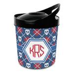 Knitted Argyle & Skulls Plastic Ice Bucket (Personalized)