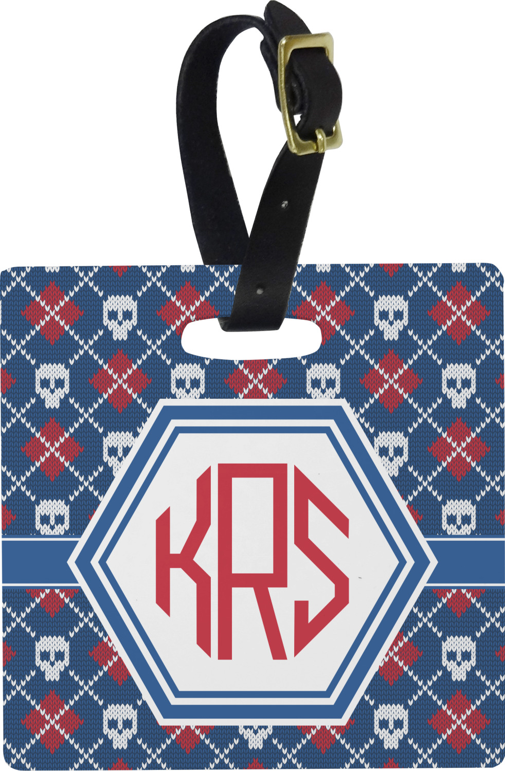 YouCustomizeIt Knitted Argyle /& Skulls Duffel Bag Personalized