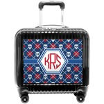Knitted Argyle & Skulls Pilot / Flight Suitcase (Personalized)