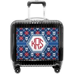 Knitted Argyle & Skulls Pilot / Flight Suitcase (Personalized)