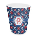 Knitted Argyle & Skulls Plastic Tumbler 6oz (Personalized)