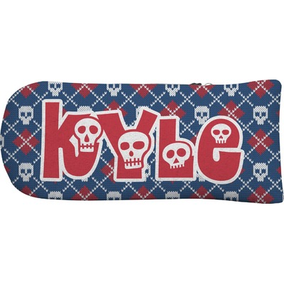 Knitted Argyle & Skulls Putter Cover (Personalized)