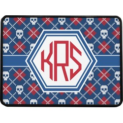 Knitted Argyle & Skulls Rectangular Trailer Hitch Cover (Personalized)