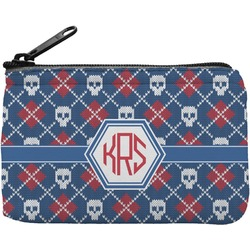 Knitted Argyle & Skulls Rectangular Coin Purse (Personalized)