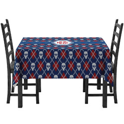 Knitted Argyle & Skulls Tablecloth (Personalized)