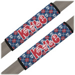 Knitted Argyle & Skulls Seat Belt Covers (Set of 2) (Personalized)