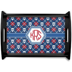 Knitted Argyle & Skulls Wooden Trays (Personalized)