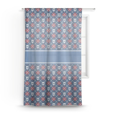 Knitted Argyle & Skulls Sheer Curtains (Personalized)