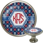 Knitted Argyle & Skulls Cabinet Knobs (Personalized)