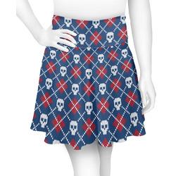 Knitted Argyle & Skulls Skater Skirt (Personalized)