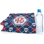 Knitted Argyle & Skulls Sports & Fitness Towel (Personalized)