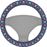 Knitted Argyle & Skulls Steering Wheel Cover (Personalized)