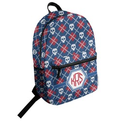 Knitted Argyle & Skulls Student Backpack (Personalized)