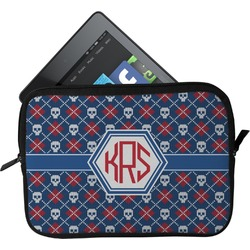 Knitted Argyle & Skulls Tablet Case / Sleeve (Personalized)