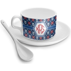 Knitted Argyle & Skulls Tea Cups (Personalized)