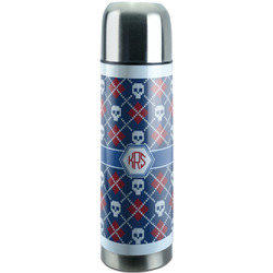 Knitted Argyle & Skulls Stainless Steel Thermos (Personalized)