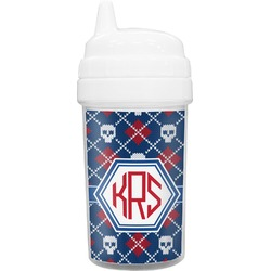 Knitted Argyle & Skulls Sippy Cup (Personalized)