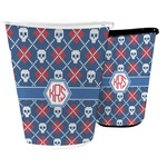 Knitted Argyle & Skulls Waste Basket (Personalized)