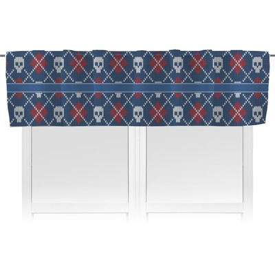 Knitted Argyle & Skulls Valance (Personalized)