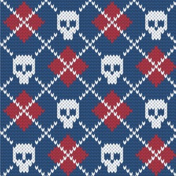 Knitted Argyle & Skulls Wallpaper & Surface Covering