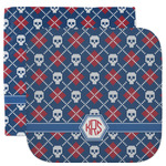 Knitted Argyle & Skulls Facecloth / Wash Cloth (Personalized)