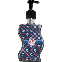 Knitted Argyle & Skulls Wave Bottle Soap / Lotion Dispenser (Personalized)