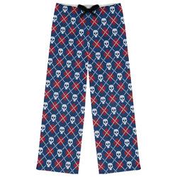 Knitted Argyle & Skulls Womens Pajama Pants (Personalized)