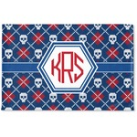 Knitted Argyle & Skulls Woven Mat (Personalized)