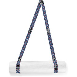 Knitted Argyle & Skulls Yoga Mat Strap (Personalized)