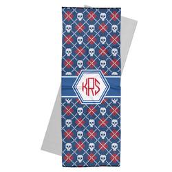 Knitted Argyle & Skulls Yoga Mat Towel (Personalized)