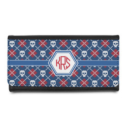 Knitted Argyle & Skulls Leatherette Ladies Wallet (Personalized)