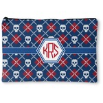 Knitted Argyle & Skulls Zipper Pouch (Personalized)