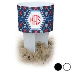 Knitted Argyle & Skulls Beach Spiker Drink Holder (Personalized)