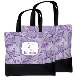 Sea Shells Beach Tote Bag (Personalized)