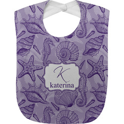 Sea Shells Baby Bib (Personalized)