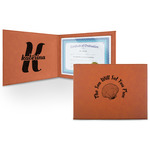 Sea Shells Leatherette Certificate Holder (Personalized)