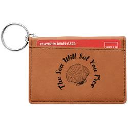 Sea Shells Leatherette Keychain ID Holder (Personalized)