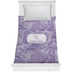 Sea Shells Comforter - Twin (Personalized)