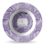 Sea Shells Plastic Bowl - Microwave Safe - Composite Polymer (Personalized)