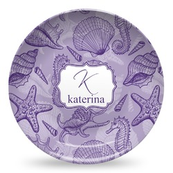 Sea Shells Microwave Safe Plastic Plate - Composite Polymer (Personalized)