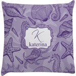 Sea Shells Decorative Pillow Case (Personalized)