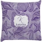 Sea Shells Decorative Pillow Case (Personalized)