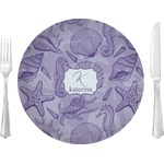 """Sea Shells Glass Lunch / Dinner Plates 10"""" - Single or Set (Personalized)"""