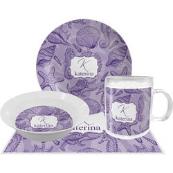 Sea Shells Dinner Set - 4 Pc (Personalized)