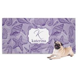 Sea Shells Dog Towel (Personalized)