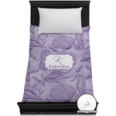 Sea Shells Duvet Cover - Twin (Personalized)