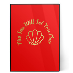 Sea Shells 5x7 Red Foil Print (Personalized)