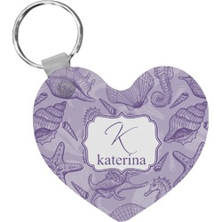 Sea Shells Heart Keychain (Personalized)