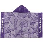Sea Shells Kids Hooded Towel (Personalized)